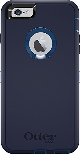 OtterBox Defender Serie Case & Holster für Apple iPhone 6 Plus/6S Plus 14 cm (Zertifiziert aufgearbeitet), Indigo Harbor (Royal Blue/Admiral Blue) Defender Series-holster