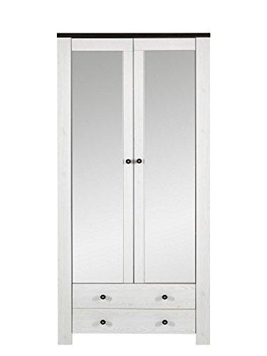 Stella Trading Antwerpen Spiegel, Wandspiegel, Garderobenspiegel, Holz, Weiß, (B/H/T) 87 x 200 x 40 cm