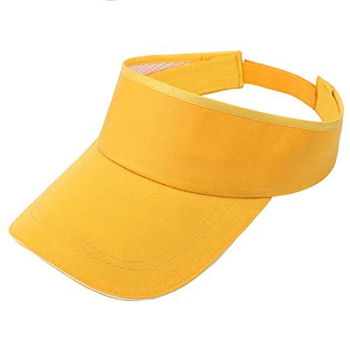 Mehrere Farben Sonnenblenden für Frauen und Damen, Verstellbarer Hut für Golf Radfahren Angeln Tennis Laufen Joggen und andere Sportarten,Yellow