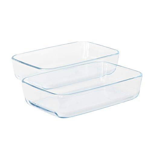 ProCook Ofenform aus Glas, rechteckige Auflaufformen, Set, 2-teilig Lasagne Baker