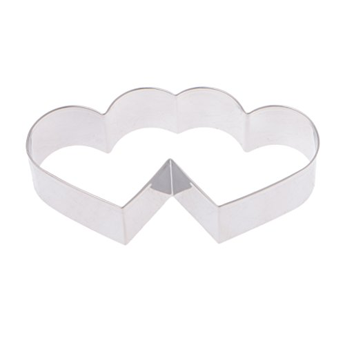 Besttse 3D Süßigkeiten Doppelherz Form Edelstahl Keksform DIY Form