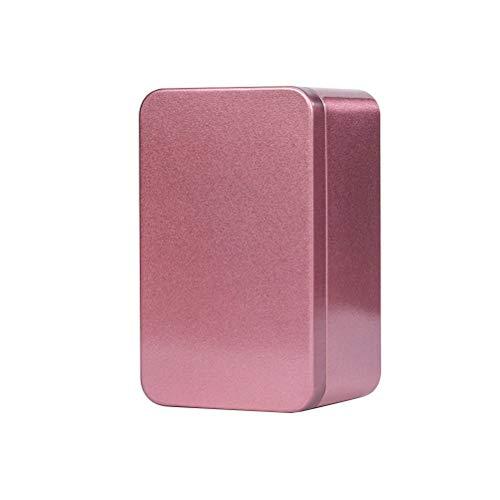 UPKOCH Metalldose Rechteckige Leere Box Geschenkdose Behälter mit Deckel für Tee Süßigkeiten Kerze Schmuck (Rot)