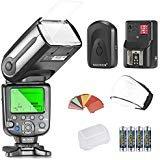 Neewer NW565EX E-TTL Slave Flash Speedlite Kit per Canon 5D II 7D, 30D, 40D, 50D,EOS 300D 350D 400D 1000D 500D 550D 600D 700D 100D 1100D e altri Modelli Canon, Include: Neewer Flash + Diffusore + 35pz. Filtri Colorati + Trigger + 4pz. Batteria LR
