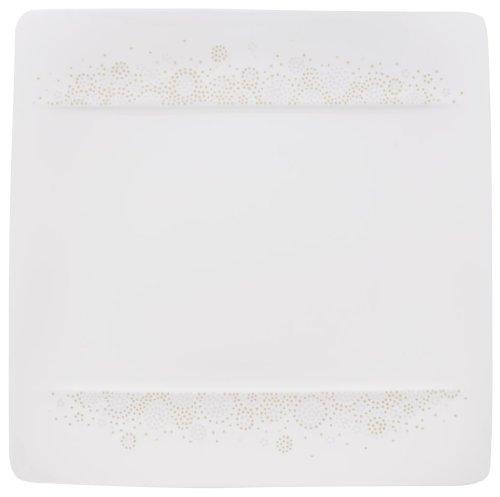 Villeroy & Boch 10-4511-2640 Modern Grace Grey Frühstücksteller, 23 x 23 cm, Premium Bone Porzellan Grace Bone China