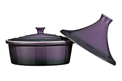 Premier Housewares OvenLove Stoneware 2-in-1 Tagine/ Casserole Dish, 26 Diameter x 22 cm Height, Matt Black_Parent