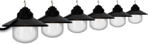 1632-77405 Black Shaded Six Globe String Light Set by Polymer Products LLC (Globe Lights String)