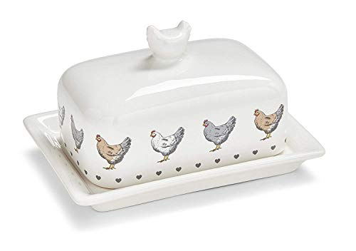 Landwirte Küche Junggesellinen & Hearts Butterdose 11cm x 17cm x12cm Butter Dish Set