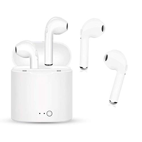 Bluetooth Headsets, Mini kabellose Headsets Headset Bluetooth 4.2 InEar-Kopfhörer Ohrhörer Wireless-Stereo-In-Ear-Freisprecheinrichtung für IOS Android (weiß-8) -