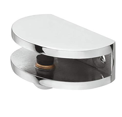 Gedotec Design Glasbodenträger modern Klemm-Tablarträger universal Regalträger kompakt - Luna aus Metall | für Tablardicke 5-8 mm | Bodenträger in Chrom poliert | 1 Stück