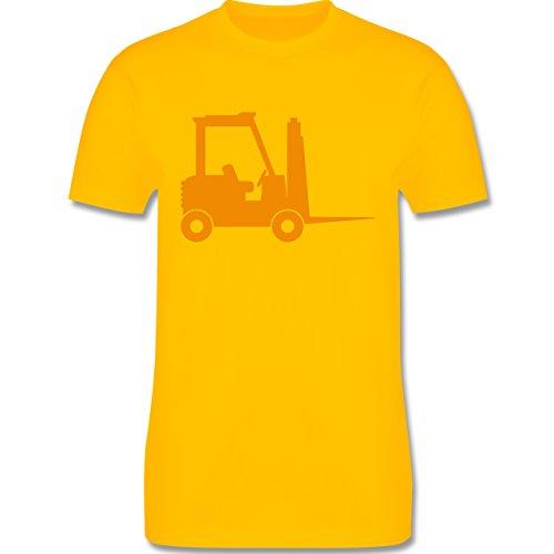 Andere Fahrzeuge - Gabelstapler - Herren Premium T-Shirt Gelb