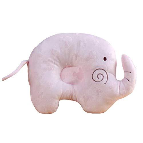 ssen für Neugeborene Baby Anti-Roll-Kissen verhindern flachen Kopf, Rosa Elefant ()