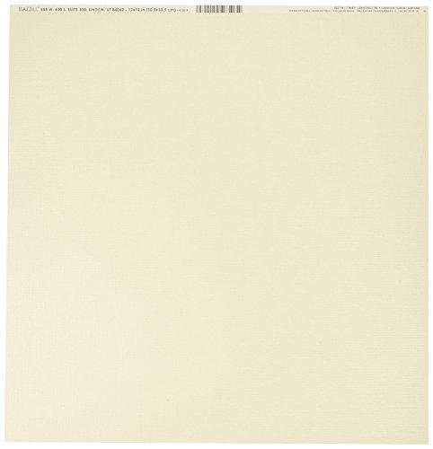 Bazzill Basics Papier Scrapbooking Blatt Bling String of Pearls, beige (Bazzill Bling-papier)