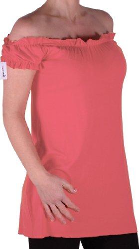 Eyecatch TM - Tunique tombant sur les épaules style bohémienne - Nikita - Femme - Plusieurs Tailles et Couleurs Corail
