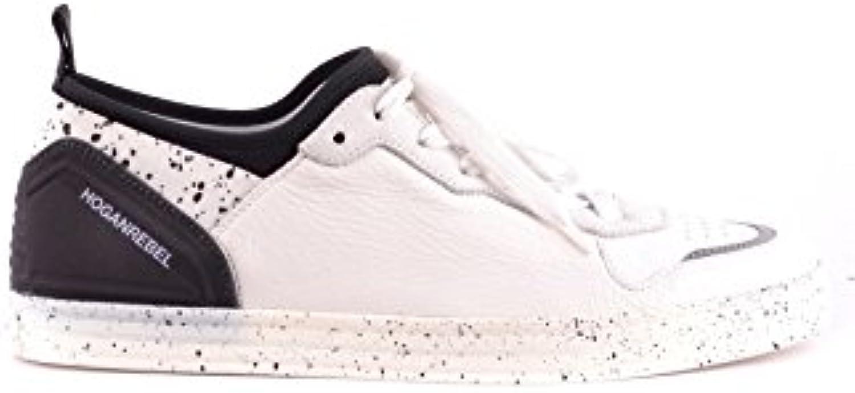 Hogan Rebel Herren MCBI148437O Weiss/Schwarz Leder Sneakers