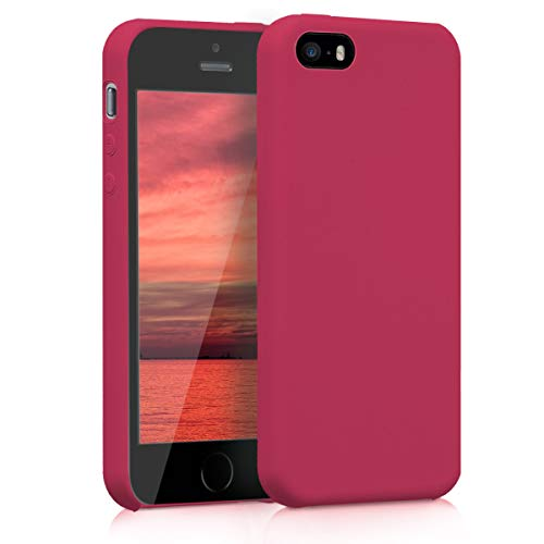 kwmobile Apple iPhone SE / 5 / 5S Hülle - Handyhülle für Apple iPhone SE / 5 / 5S - Handy Case in Fuchsia matt