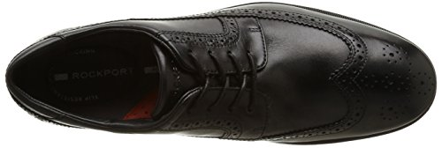 RockportTotal Motion Performance Stability Wing Tip - Brogue uomo Black (Black)