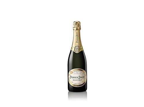 Champagne Perrier-Jouët Grand Brut, Blumig-frischer und trockener Premium-Champagner aus dem Hause Perrier-Jouët, 1 x 0,75 L Grand Cru Crystal