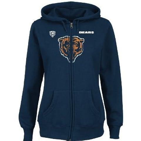 Chicago Bears Majestic damas abrochador augastes sudor-Shirt - Marina Azul azul marino Talla:mediano
