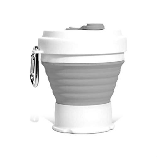 KOUAJ Wasserbecher Folding Silikon Tragbare Silikon Teleskop Trinken Faltbare Kaffee Tasse klapp Silica Tasse mit Deckel Reise Style 3 350ml 12oz -