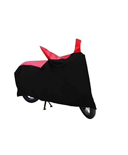 JMJW & SONS – Premium Quality Double Stiched Waterproof Parachute Black & Red Bike Body Cover for Yamah yzf r1 (With Side Mirror Pockets)