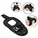 Tradico® 360 Degree Rotation Wrist Hand Strap Band Holder Mount For Camera