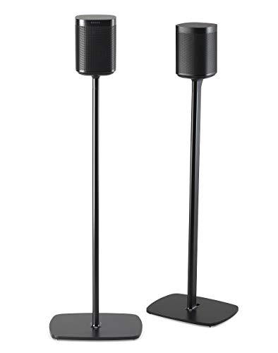 Flexson Bodenständer für Sonos One, One SL und Play:1, Paar schwarz