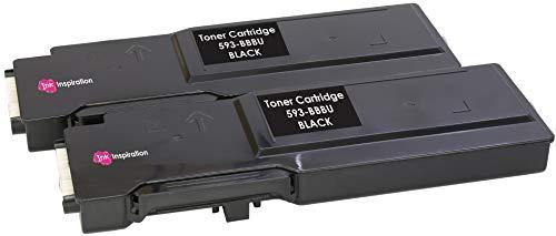 2 Schwarz Premium Toner kompatibel für Dell C2660 C2660dn C2665 C2665dnf | 593-BBBU 6.000 Seiten - Dell Drucker