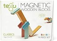 Tegu Juego de Bloques de Construcción de Madera magnéticos de 14 Piezas