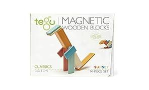 TEGU Magnetico Legno Blocchi Costruzioni 14 Pezzi