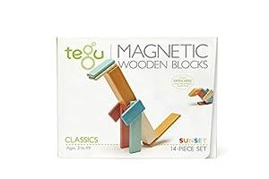 Tegu Juego de Bloques de Construcción de madera magnéticos de 14 piezas - Puesta de Sol