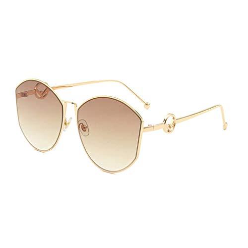 EYEphd Überdimensionale Cateye-Sonnenbrille für Frauen Fashion Gradient Lens Shades Sonnenbrille -UV400 Schutz für Driving Beach,GoldFrame/BrownGradient