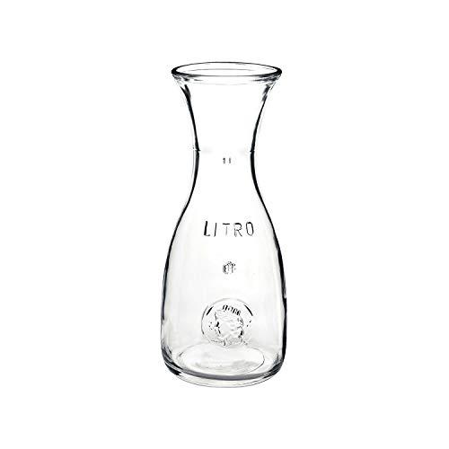 Bormioli Rocco 184179538 Misura Weinkaraffe, mit Füllstrich bei 1l, Glas, transparent, 1 Stück