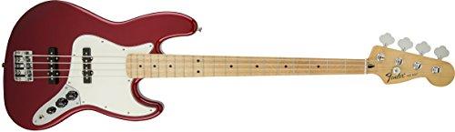 Fender 0146202509Standard Jazz Bass Ahorn Griffbrett E-Gitarre, Candy Apple Red (Bass Gitarre Fender 4-string)