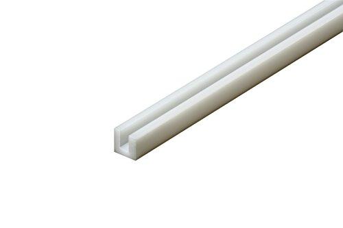 Tamiya 70202-U de Perfil 3x 3mm, 5Unidades, plástico, 400mm, Color Blanco