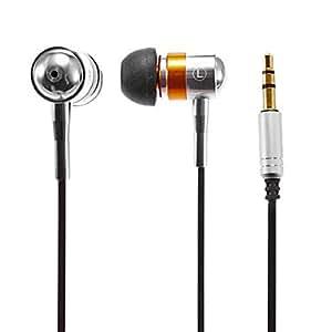 3.5mm st¨¦r¨¦o intra-auriculaires avec anneau d'or Ecouteurs pour iPhone / iPad / Samsung et autres (120cm)