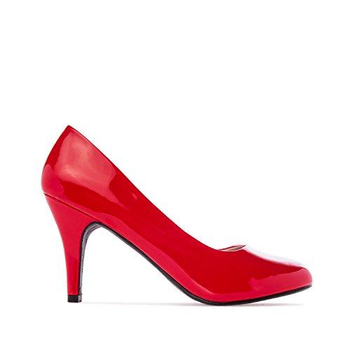Elegante, rote Lack Pumps. Kleine und große Größen. Gr. 43 Lack Pumps