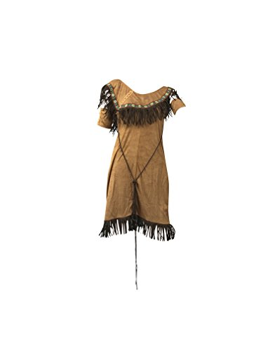 Frauen Native Indian Kostüm - Enthält American Indian Abendkleid, Arm-Manschetten und Gefiederte Stirnband - Pocahontas-Kostüm für Halloween - hochwertige Materialien - UK Größen 8-14 (Women: 38, ()