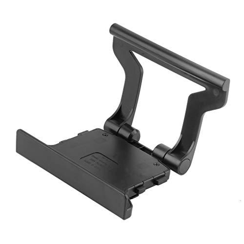 LeobooneDauerhafte Nutzung Kunststoff Schwarz Kunststoff TV Clip Clamp Montage Montagestand-Halter geeignet für Microsoft Xbox 360 Kinect Sensor