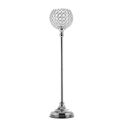 VINCIGANT Hoch Partylite Kerzenhalter Kristall Globe Vasen Kerzenständer Silber für Hochzeit/Weihnachten/Party Dekoration 70cm Tall