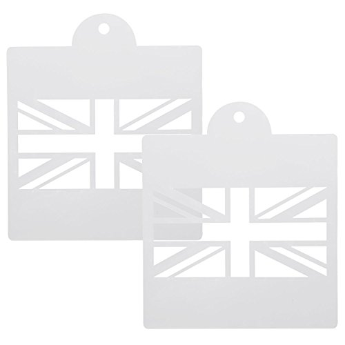 (Trixes Union Jack Zeichenschablonen Vorlagen für Scrapbooking Karten Bastelarbeiten etc.)