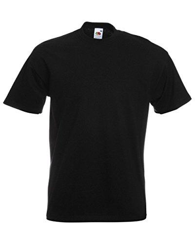 Fruit of the Loom Herren-Super-Premium-Kurzarm-T-Shirt L Schwarz