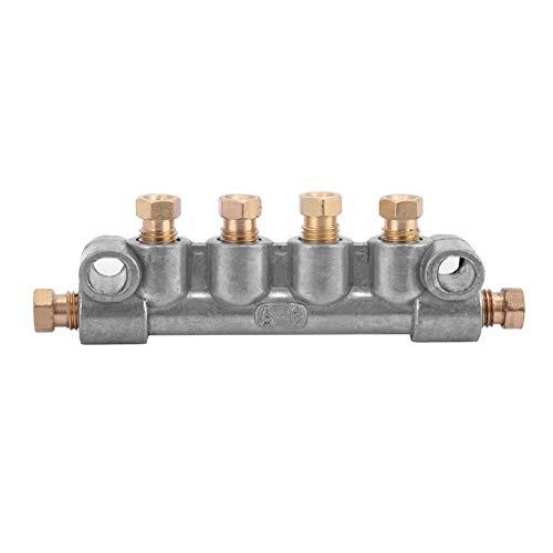 Ölabscheider,Oil Separator 4/5/6 Way Ein Typ Ölkolbenverteilerabscheider für ein zentrales Schmiersystem, aus hochwertigem Material,haltbarer und stabiler Leistung(A-6-8) -