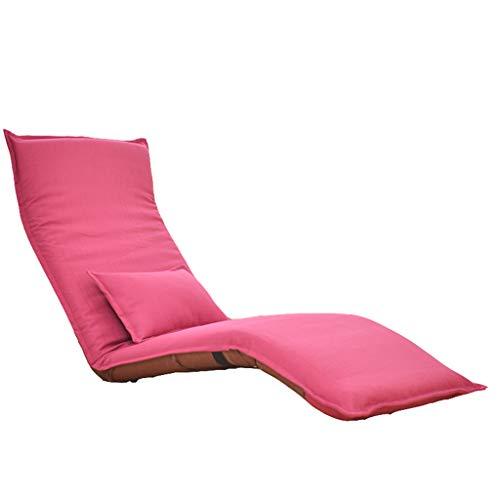 Klappstuhl Klappsofa- Lazy Sofa, Liegen Sofa, Multi-funktionale Lazy Sofa, Simple Modern Lazy Sofa, Schlafsessel Sessel, Freizeit Sofa Stuhl (Farbe : Rose rot)