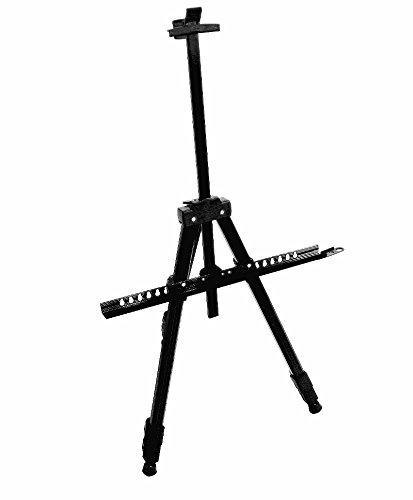 CABALLETE DE ALUMINIO PARA PINTAR o 170 cm o aluminio o ligero y estable o negro o 3 patas tipo trípode ajustables o bloqueo de patas o #553