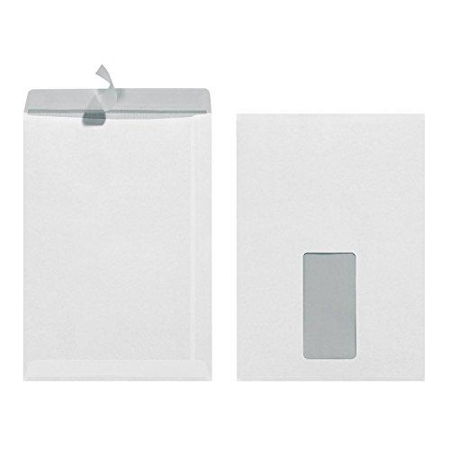 Herlitz Versandtasche C5, 90 g/qm, Selbstklebend, mit Fenster und Innendruck, weiß (500er Karton)