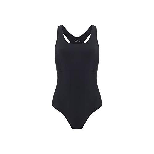 Eono Essentials Einteiliger Racerback Badeanzug für Damen Nylon Spandex Größe M
