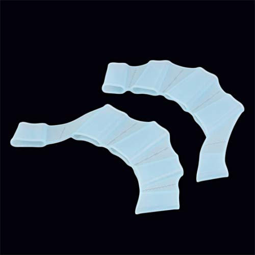 LouiseEvel215 Silica Natación Aletas para las Manos Aletas Dedos de la Palma Guantes Paleta Mejorar de guante de natación resistente para principiantes