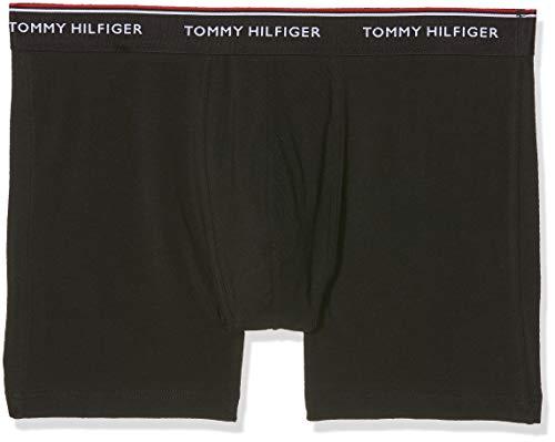Tommy Hilfiger Herren 3P Boxer Brief Boxershorts, Schwarz Black 990, Small (Herren Boxer Briefs Schwarz)