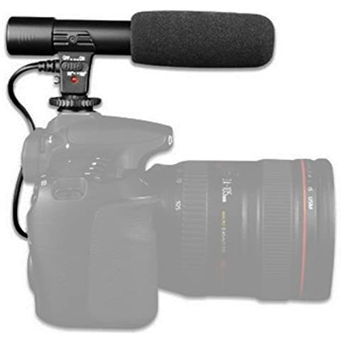 Microfono Stereo marchi camera Hot Shoe forno a Micro Jack da 3,5mm