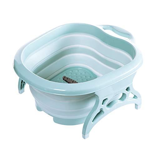 XIFOLDABLE Faltbarer Fußbad-Whirlpool Großer Tragbarer Fußmassageeimer Für Familienreisen Im Freien Mehrfarbig Optional (Farbe : Blau)